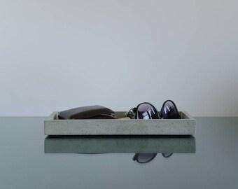 Concrete tray, Concrete Valet tray, Desk tray, Key Tray, Desk Organizer, Desk Accessories, Home decor, Office decor