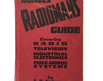 1939 AUDELS RADIOMAN GUIDE Vintage Electronics Manual Hardcover Book