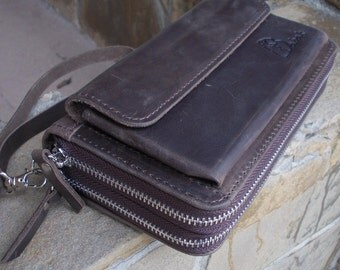 Leather Clutch + Zip around Wallet + Wristlet Wallet + Leather Wallet + Phone Wallet + Zippered Wallet + Wallet Case + Travel Wallet