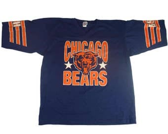 80s Chicago Bears Vintage Garan Jersey - Vintage 1980s Chicago Bears Made in USA - XL