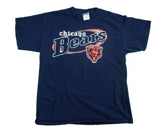 90s Chicago Bears Vintage Tee - Vintage NFL Chicago Bears Walter Payton Tshirt - XL
