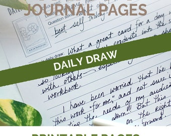 Daily Draw A5 Planner Inserts for Daily Journal Tarot Card Readings- refillable journal pages for your tarot notebook daily planner pdf