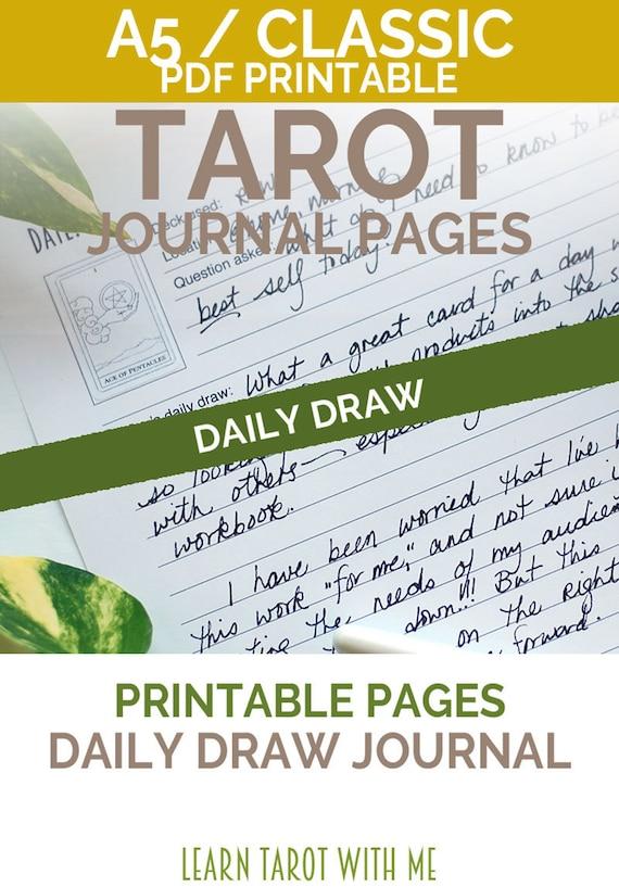 Weekly Tarot Reading I Healingtarotnet: Daily Draw A5 Planner Inserts For Daily Journal Tarot Card