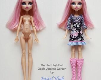Ooak Customized Monster High Viperine Gorgon Doll