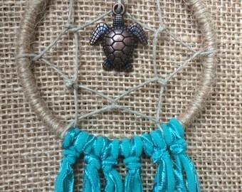 Sea Turtle Turquoise Dream Catcher