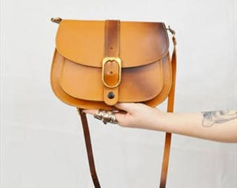 Ombre Leather Saddle Bag