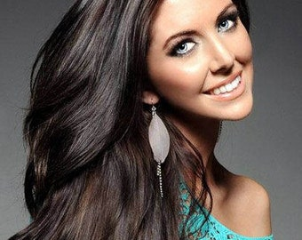 Clip in Extensions- Natural dark brown European virgin hair/120grams full head Set Luxury Quality/Re-usuable guaranteed