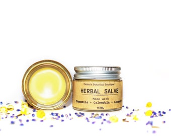 Herbal Natural Salve, Hand Salve, Cuticle and Nail Balm, Working Hands Balm, Soothing Balm, Repair Balm, Gentle Moiseturizer