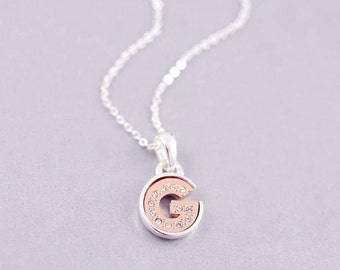 g letter necklace g initial necklace g letter necklaces personalised jewelry minimal necklace g tiny letter necklace g jewelry