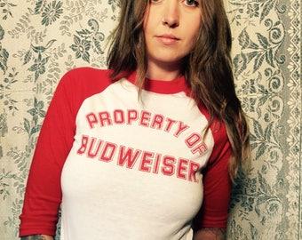 Budweiser Baseball Tshirt