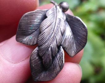 Vintage Signed Botticelli Leaf Clip Earrings