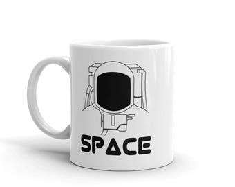 Space Astronaut Coffee Mug, Science Mug, Nerdy Coffee Mug, Science Gift, Space Mug, Cool Gift, Space Suit Mug, Apollo Mug, Gift for Him