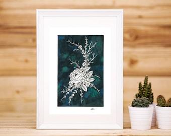 Peonies on Jade Print