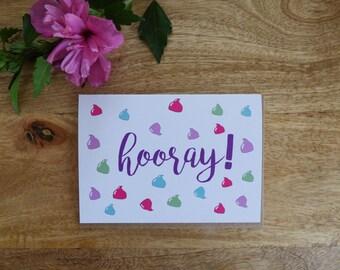 Card 'Hooray!'