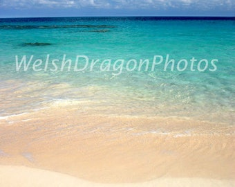 Heaven, Bermuda Beach Photo, Digital Photography Download, Travel Photography, Seascape Photography, Sand Sea and Sky Photograph