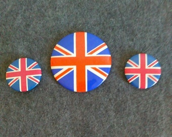 Vintage Union Jack Pinbacks