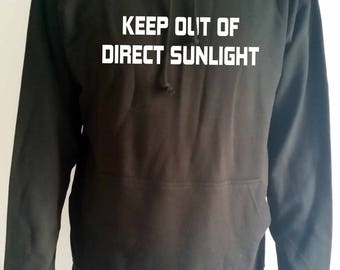 keep out of direct sunlight adults hoodie