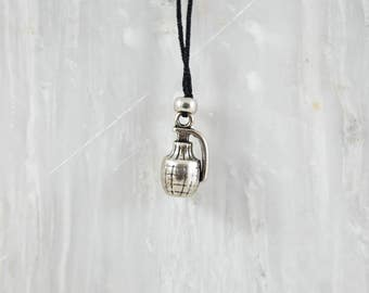 Grenade Necklace, Men's Necklace, Army Necklace, Gun Necklace, Gift For Him, Made in Greece.