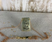 I FEEL LIKE PABLO // Gucci Mane Hand-Stamped Brass Necklace