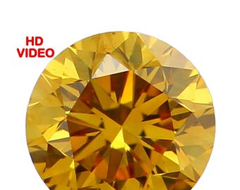3.20 MM 0.13 Ct Natural Loose Diamond Cut Round Shape Yellow Coffee Intense Color N2862