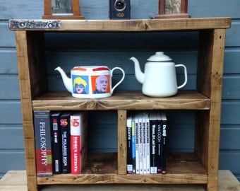 Rustic shelving unit - handmade from old scaffold boards