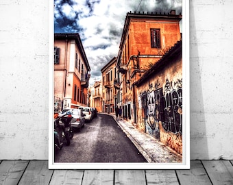 Athens Print, Street art print, Greece photography, Plaka wall decor, Architecture wall art, HDR photography, Digital download