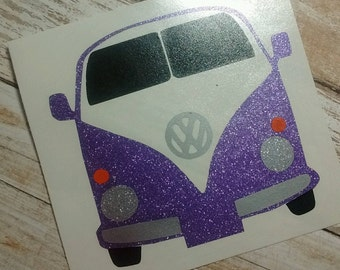 Volkswagen Decal/Super Bug Monogram/VW Monogram/ Vw Sticker/ Monogram/Decal/ Vinyl Decal/ Hippy Decal/Vw Bus Decal/YETI/HTV Decal
