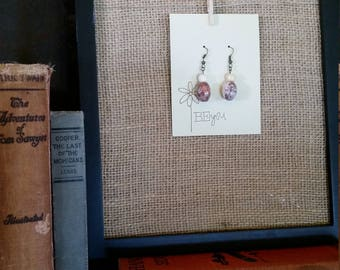 Stone Beaded Dangly Earrings