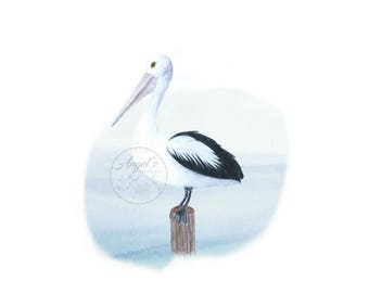 Pelican by the Sea Print