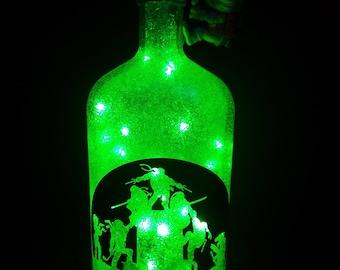 Teenage Ninja Turtles led bottle light, TNMT led bottle light, Ninja turtles lighted bottle, TNMT, superhero, turtles, ninja,
