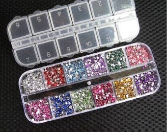 3000pcs 1.5mm Rhinestones,Nail Art Decoration,Round Colorful Glitters,DIY,Glitter Decals,Nail Rhinestones,Nail Decor,Free Shipping,Worldwide
