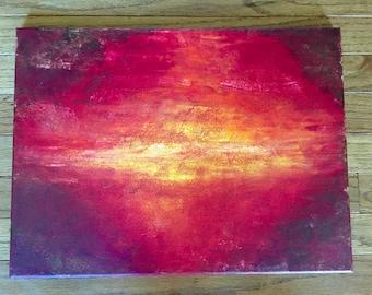 Acrylic Fiery Sky Painting