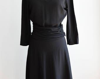 """1930's Art Deco Cut Out Party Dress/Waist 26"""""""