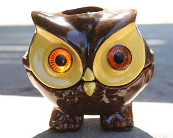 vintage owl votive candle holder by LUX