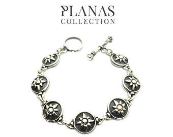 Bracelet silver .925 gold 14k yellow