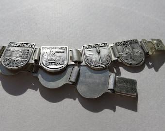 Vintage Tourist Bracelet Germany Vintage Jewelry Tourist Bracelet Costume Jewelry Bracelet Germany