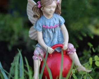 "Miniature Fairy on a Bouncy Ball, 3"" tall"