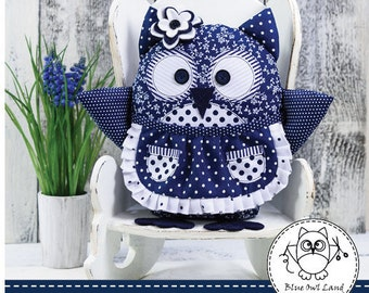 OLISA OWL SEWING Pattern. owl sewing pattern. owl patchwork. pincushion pattern. owl pdf sewing pattern. pdf sewing pattern. © Blue Owl Land