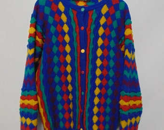 Vintage Bright Pattern Cardigan