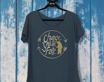 Change Your Fate | Ladies Slouchy Tee | Disney-Inspired | Merida | Brave | Disney Princess