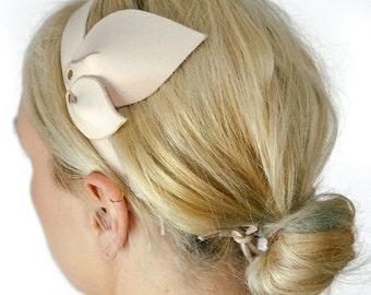 Boho headband wide / bridal boho headband / cute boho headbands / wide boho headband / boho chic headband / wide headband leather