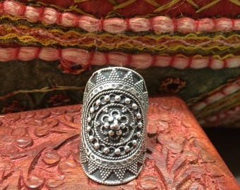 Chunky Indian Silver Ring