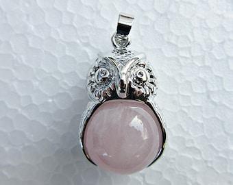 Owl, necklace, stone of love, stone of the heart, wisdom, mysticism, spirituality,