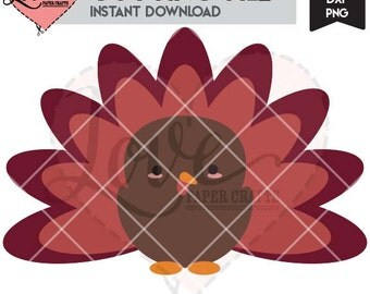 Cute Turkey SVG EPS DXF png jpg cutting file and clip art   Thanksgiving cut file with commercial use