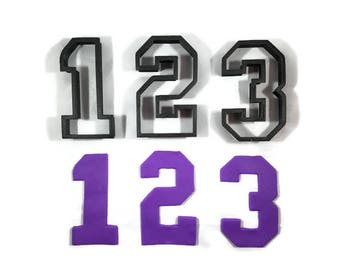 Number 0 - 9 Cookie Cutters - Numbers 0 to 9 Fondant Cutters - Numbers Cupcake Toppers