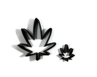 Marijuana Leaf Cookie Cutter - Pot Leaf Fondant Cutter - Pot Cupcake Topper - Marijuana Cookie Cutters