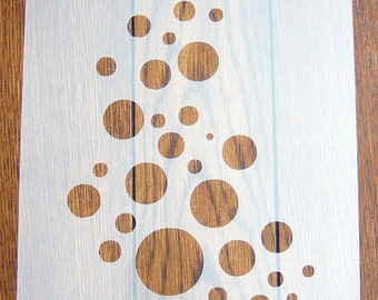 Bubbles Stencil Mask Reusable Mylar Sheet for Arts & Crafts