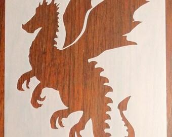 Dragon Stencil Mask Reusable Mylar Sheet for Arts & Crafts