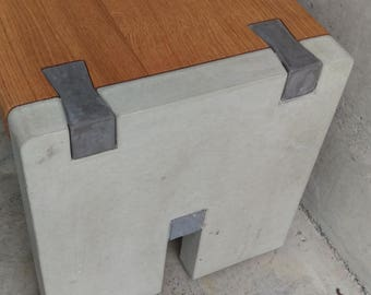 Concrete Wood Planter Bench