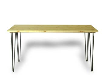 Hairpin Leg Desk with Natural Finish